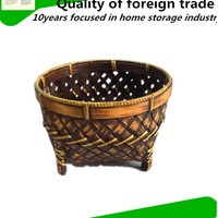 Fruit Basket Bamboo Weaving With Carrying