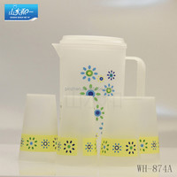 hot sale fashional wh874a plastic water cup and pitcher