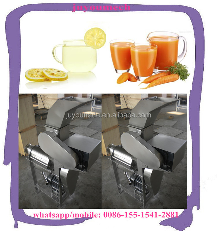 automatic stainless steel vegetable and fruit juicer/carrot juicer machine/carrot juice extracting machine