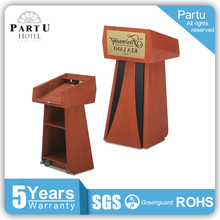 New model traditional wooden pulpit mdf wood veneer podium