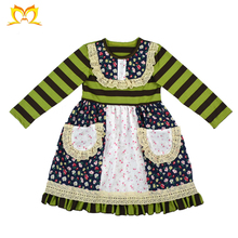 Children Stripe And Flower Pockets Dress Different Types Of Frocks Designs Girls Dress Names With Picture