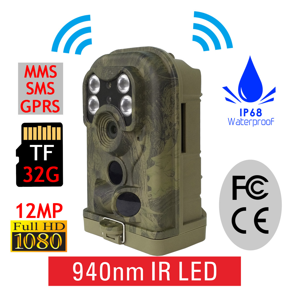 Factory Wholesales SMTP Infrared No Glow Game Track Camera Hunting Trail Cam with Dustproof Waterproof