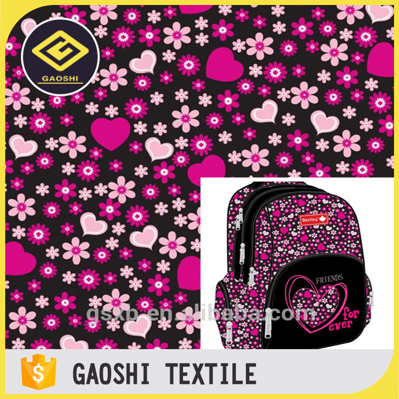 Functional OEM Service 600d Polyester Pvc Backing Printed Oxford Fabric for School Bag