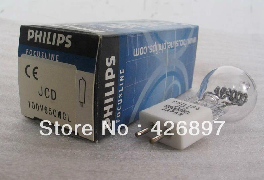 Philips JCD 100V650W CL projection halogen lamp,100V 650W enlarger photo photographic,JCD100V650WCL projector bulb