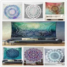 wholesale bohemian printing custom mandala tapestry summer beach wall tapestry mandala