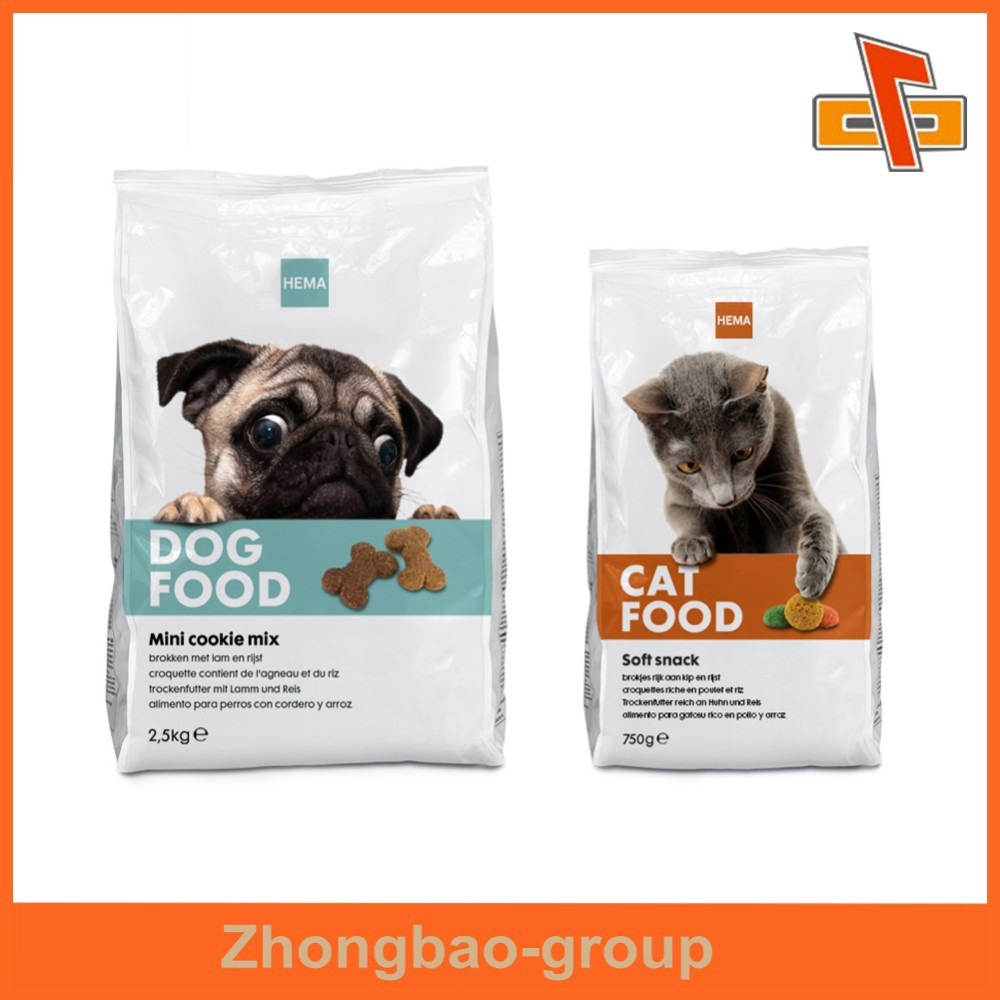 wholesale heat seal moisture proof custom printed plastic side gusset animal feed bags with your brand