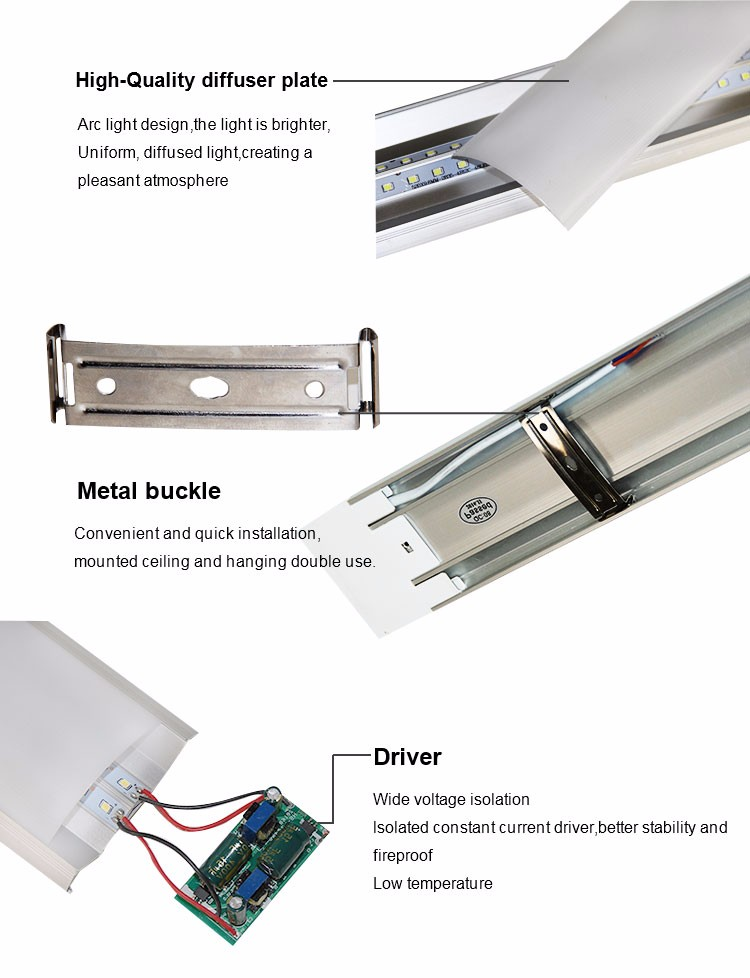 New design 36w 4ft led linear light led tube light fixture,led hanging vertical tube light