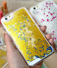 Bling Glitter Heart Quicksand Moving Star Cases Phone Cover Cases For iPhone 6 6s Liquid Glitter Case