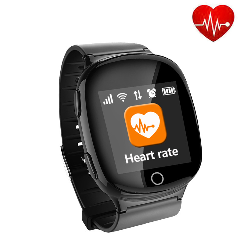 Fall Down Alarm Anti-lost GPS Lbs Wifi Tracking Watch <strong>D100</strong> Elderly Heart Rate Monitor Smart Watch