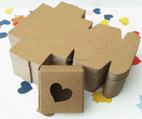6.5*6.5*3cm Brown Heart Hollow Out Kraft Paper Box Handmade Soap Gift Favor Party Cosmetic Package Boxes