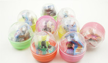 Cheap plastic ball capsule small toys half color half transparent