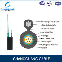 GYXTC8S Figure 8 self-supporting cable with single steel wire,6 core fiber optic Mini cable
