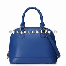 2015 korea style pu leather handbags for women , lady blue genuine leather shoulder bags