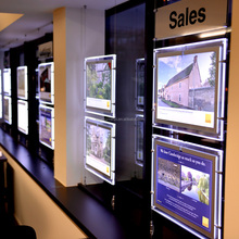 Innovation Stunning Real Estate Agent Advertising Acrylic LED Light Pocket Window Display