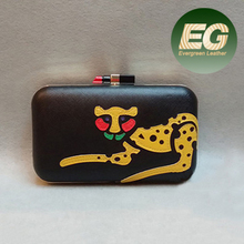 Hot tiger photo evening bag with lipstick opening cool fashion party bags EB682