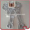 Wholesale Carter Kids Long Sleeve Stripe Autumn Boutique Girl Outfits Solid Cotton Casual Wear Baby Clothes