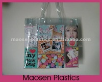 PVC shopping bag can add youself photos