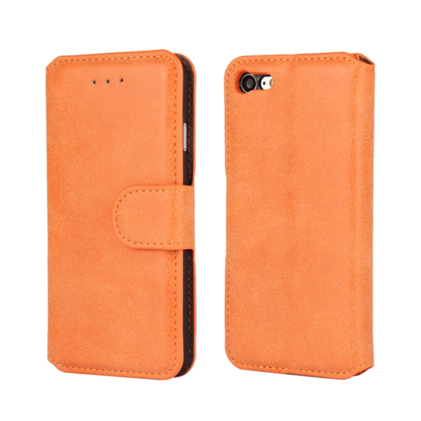 Wholesale pu leather wallet design cell phone case for iphone 7 with card slot cover