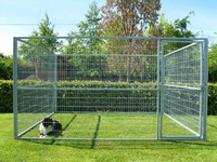 hot dipped galvanized & PVC coated dog kennels