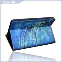 tablet case for ipad case jeans leather smart cover OEM factory in stock for ipad mini