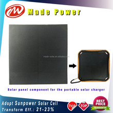 high capacity 5600mAh portable Sunpower travel solar power bank's component small solar panel