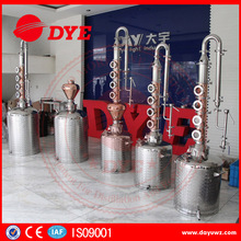 home alcohol copper distillation equipment milk can distiller for sale