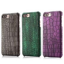 Fashion Design Good Quality Genuine Crocodile Pattern Leather Mobile Cell Phone Case for iphone6 6 Plus