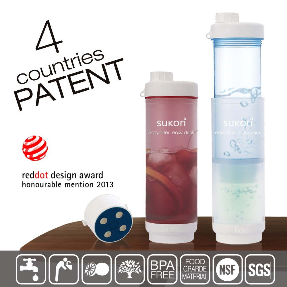 new patented inventions products bpa free water filter bottle