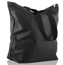 Custom Polyester Shopping Bag Black Handbag Totes For Shopping