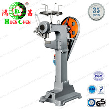 Automatic wire staples machine for luggage bag stapling