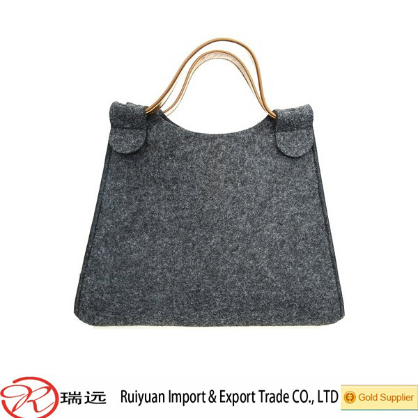 2016 Whosale Soft Material Easy Carrying Felt Shopping Bag ,Felt Handbag