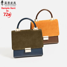 Elegance mini handbag guangzhou factory wholesale suede fashion trend PU leather bag for ladies
