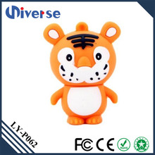 2016 New product animal shape usb flash drive rubber innovative usb drives