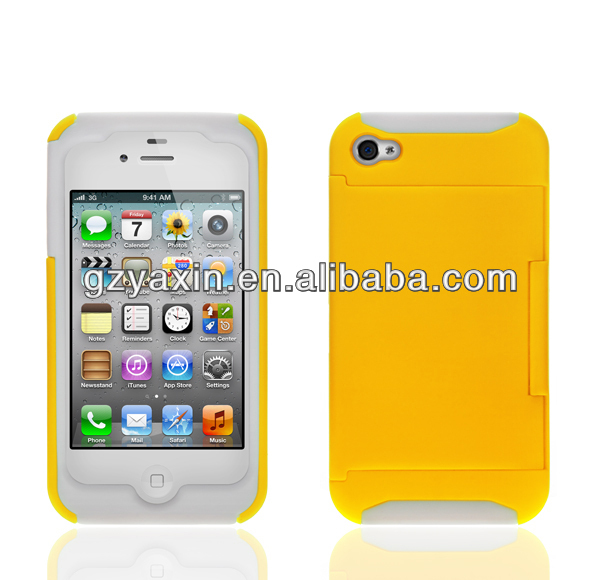 For iphone4s animal shaped case,Creative credit card slot case for iphone 4