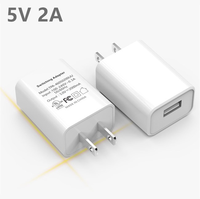 Best Quality Rapid Speed 5V 2A US Plug Single Port USB Wall Power Travel Charger Adapter
