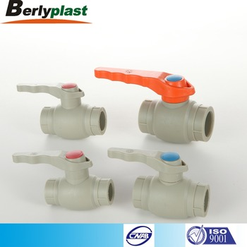 High pressure hot water plastic ppr ball valve