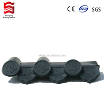 Difficult to be burned plastic roof tiles terracotta