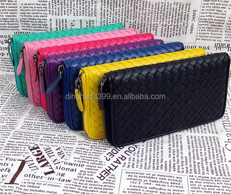 Multicolor Lady Leather Wallet, Magic Lady Purse Woven with Credit Card Holder, Money Clip Wallet with Alibaba Stock Price