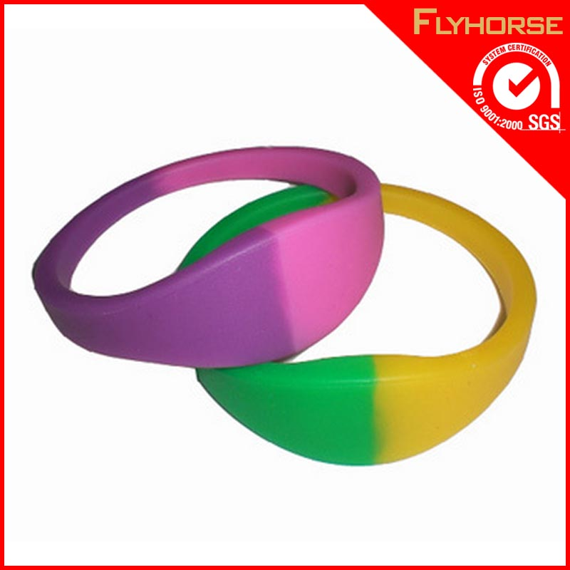 fancy cheap custom silicone slap bracelet mold