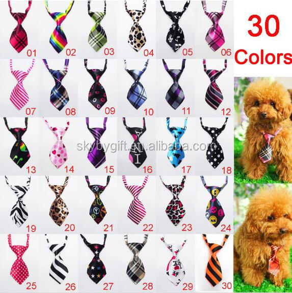 30 Colors Pet Ties Bow Ties Cat Neckties Grooming straps dog bow tie