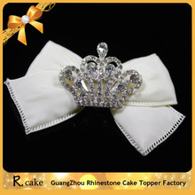 Newest design mini crown shape rhinestone buckle for chair sash decoration