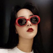 Wholesale New fashion Women Oval Sunglasses NIRVANA Kurt Cobain Men Vintage Retro Female Male Sun Glasses Women's UV400 9750