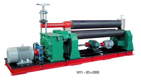 Low price <strong>W11S</strong> plate rolling machine for sale,China quality factory steel plate rolling machine
