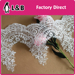 fashion popular graceful decorative alencon wedding lace bridal lace trim