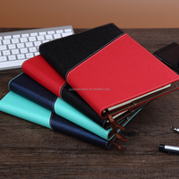 difference colors pu leather cover 2016 / 2017 diary notebook with button