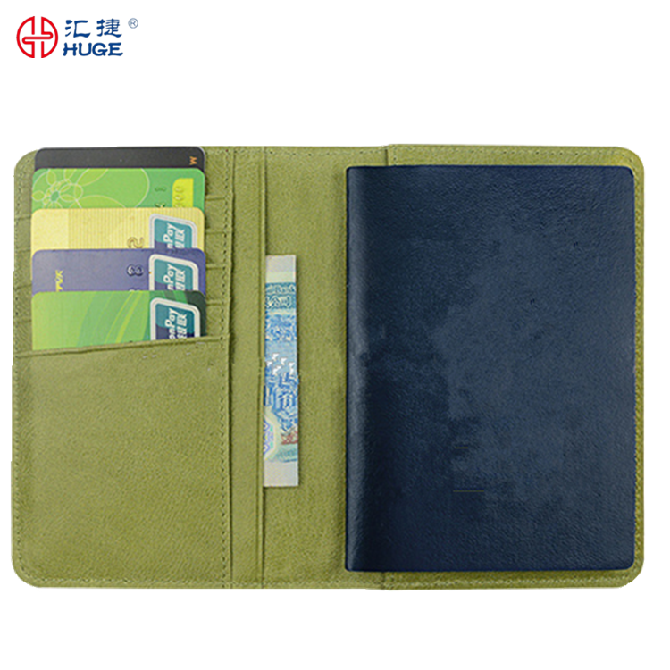 Faux Leather Travel Airline Ticket Credit Cards Cash Passport Holder