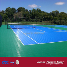 Anti-slip indoor pp interlocking flooring for Tennis Filed