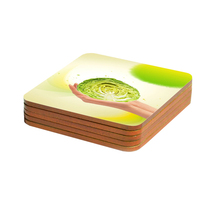 High quality sublimation cheap custom MDF cork coasters, wooden drink cup coasters mats