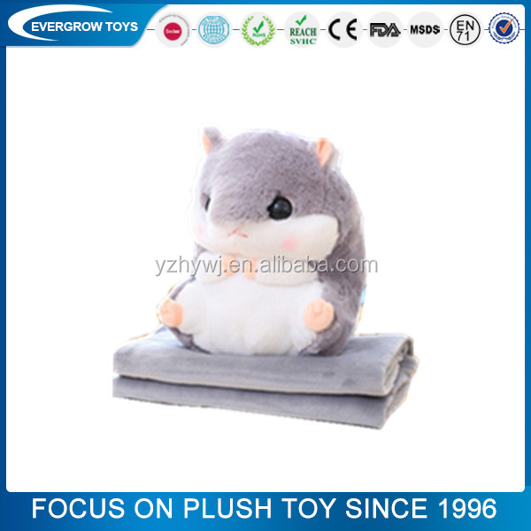 funny custom 3 in 1pillow x hamster for children