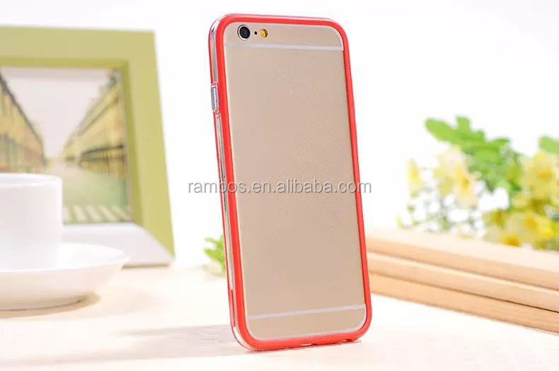 Promotion Slim soft TPU Bumper Frame Case cover side protector for HTC One/M8